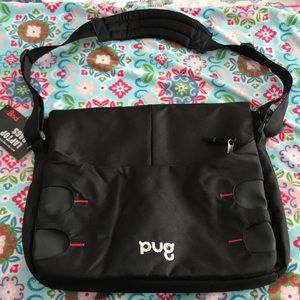 4/$30 🌿  PUG Black Laptop Bag NWT